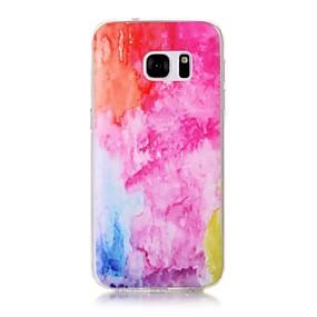 voordelige Galaxy S7 Hoesjes / covers-hoesje Voor Samsung Galaxy S7 edge / S7 Transparant / Patroon Achterkant Kleurgradatie Zacht TPU voor S7 edge / S7