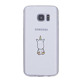 voordelige Galaxy S7 Edge Hoesjes / covers-hoesje Voor Samsung Galaxy S7 edge / S7 / S6 edge plus Ultradun / Patroon Achterkant Eenhoorn Zacht TPU