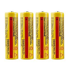 baratos Lanternas & Luminárias-Li-Ion 18650.0 Bateria 5000 mAh 4pçs Recarregável Emergência para Trabalhar Lanterna Bike Light Acampar e Caminhar Caça Pesca