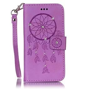 economico Custodie / cover per Galaxy serie S-Custodia Per Samsung Galaxy S7 edge / S7 A portafoglio / Porta-carte di credito / Con diamantini Integrale Cacciatore di sogni Resistente pelle sintetica per S7 edge / S7 / S6 edge
