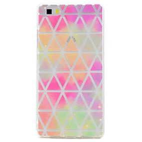 voordelige Huawei Honor hoesjes / covers-hoesje Voor Huawei / Huawei P8 Lite P10 Plus / P10 / P8 Lite (2017) Transparant / Patroon Achterkant Geometrisch patroon Zacht TPU