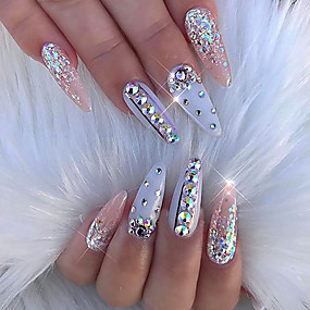 cheap Makeup & Nail Care-100% Acrylic Nail Jewelry For Finger Nail Finger Toe Decoration nail art Manicure Pedicure Abstract / Elegant & Luxurious / Wedding