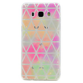 voordelige Galaxy Core Prime Hoesjes / covers-hoesje Voor Samsung Galaxy J7 Prime / J5 Prime / J5 (2016) Transparant / Patroon Achterkant Geometrisch patroon Zacht TPU