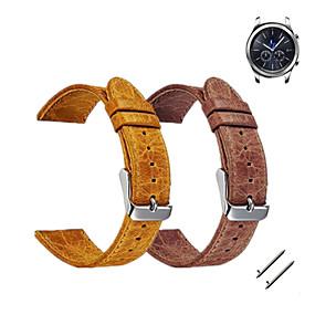 billige Klokkeremmer til Samsung-Klokkerem til Gear S3 Frontier / Gear S3 Classic Samsung Galaxy Sportsrem / Klassisk spenne Lær Håndleddsrem