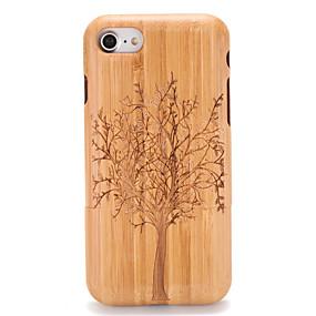 olcso iPhone tokok-Case Kompatibilitás Apple iPhone 7 / iPhone 7 Plus Dombornyomott / Minta Fekete tok Fa mintázat / Fa Kemény Fa mert iPhone 7 Plus / iPhone 7 / iPhone 6s Plus