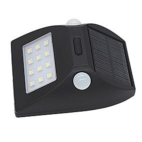 ieftine Becuri Solare LED-3 W Proiectoare LED Rezistent la apă / Senzor cu Infraroșii / Ușor de Instalat Alb Natural / Multicolor Lumina Exterior 12 LED-uri de margele