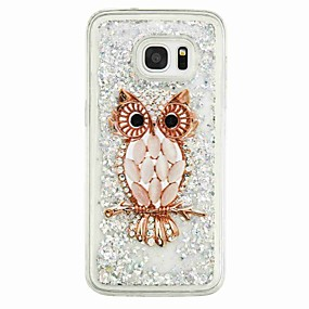 cheap Galaxy S Series Cases / Covers-Case For Samsung Galaxy S7 edge / S7 Flowing Liquid / Pattern Back Cover Owl Soft TPU for S7 edge / S7 / S6 edge