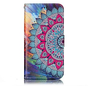 cheap LG-Case For LG Wallet / Card Holder / with Stand Full Body Cases Mandala Hard PU Leather for LG G6