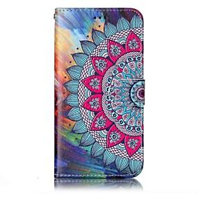 저렴한 LG-케이스 제품 LG 지갑 / 카드 홀더 / 스탠드 전체 바디 케이스 만다라 하드 PU 가죽 용 LG G6