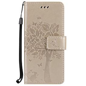 Недорогие Чехлы и кейсы для Galaxy S5 Mini-Кейс для Назначение SSamsung Galaxy S8 Plus / S8 / S7 edge Кошелек / Бумажник для карт / со стендом Чехол дерево Твердый Кожа PU
