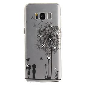 voordelige Galaxy S7 Edge Hoesjes / covers-hoesje Voor Samsung Galaxy S8 Plus / S8 / S7 edge Strass / IMD / Transparant Achterkant Paardebloem Zacht TPU