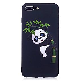 olcso iPhone tokok-Case Kompatibilitás Apple iPhone 7 / iPhone 7 Plus Dombornyomott / Minta Fekete tok Állat / Panda Puha TPU mert iPhone 7 Plus / iPhone 7 / iPhone 6s Plus