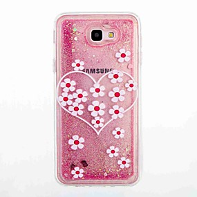 voordelige Galaxy Core Prime Hoesjes / covers-hoesje Voor Samsung Galaxy J7 Prime / J5 Prime Stromende vloeistof / Patroon Achterkant Bloem Zacht TPU voor J7 Prime / J7 (2016) / J5 Prime