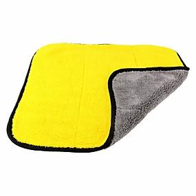 baratos Carros & Motos-Ziqiao 45 * 38 cm engrossado dupla face coral fleece toalha de carro secagem secagem pano lustrando polimento toalha