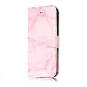 abordables Coques d'iPhone-Coque Pour Apple iPhone X / iPhone 8 Portefeuille / Porte Carte / Clapet Coque Intégrale Marbre Dur faux cuir pour iPhone X / iPhone 8 Plus / iPhone 8