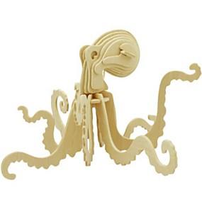 olcso Játékok & hobbi-3D építőjátékok Fejtörő Wood Model DIY Fa Gyermek Uniszex Játékok Ajándék