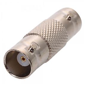 billige Sikkerhet og overvåkning-Kobling 10Pcs BNC Female Coax Cable Coupler Adapter Connector for CCTV RG59 RG60 til Sikkerhet Systemer 5*12cm 0.005kg