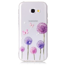voordelige Galaxy A5(2016) Hoesjes / covers-hoesje Voor Samsung Galaxy A3 (2017) / A5 (2017) / A5(2016) Transparant / Patroon Achterkant Vlinder / Paardebloem Zacht TPU