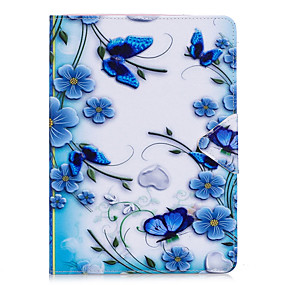 cheap Daily Deals-Case For Apple iPad Air / iPad 4/3/2 / iPad Mini 3/2/1 Flip Full Body Cases Butterfly / Flower Hard PU Leather / iPad Pro 10.5 / iPad (2017)