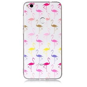 voordelige Huawei Honor hoesjes / covers-hoesje Voor Huawei / Huawei P8 Lite P10 Lite / P10 / P8 Lite (2017) Transparant / Patroon Achterkant Flamingo Zacht TPU