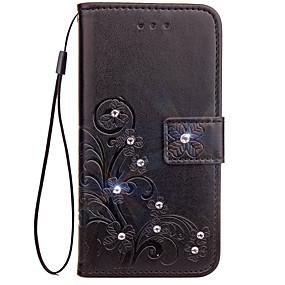 저렴한 LG-케이스 제품 LG G3 / LG / LG G4 지갑 / 카드 홀더 / 크리스탈 전체 바디 케이스 솔리드 하드 PU 가죽 용 LG G6