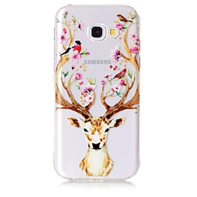 voordelige Galaxy A5(2016) Hoesjes / covers-hoesje Voor Samsung Galaxy A3 (2017) / A5 (2017) / A5(2016) Transparant / Patroon Achterkant dier / Bloem Zacht TPU