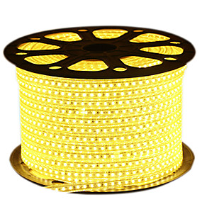 ieftine Benzi Lumină LED-HKV 10m Fâșii De Becuri LEd Flexibile 600 LED-uri 2835 SMD Alb Cald / Alb / Albastru Rezistent la apă / Ce poate fi Tăiat 220 V 1 buc / IP65
