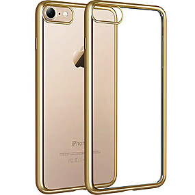 levne iPhone pouzdra-VIKEN Carcasă Pro iPhone 7 / iPhone 7 Plus / Apple iPhone 8 / iPhone 8 Plus Galvanizované / Průhledné Zadní kryt Průhledný Měkké TPU pro iPhone 8 Plus / iPhone 8 / iPhone 7 Plus