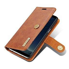 voordelige Galaxy S7 Hoesjes / covers-hoesje Voor Samsung Galaxy S8 Plus / S8 / S7 edge Portemonnee / Kaarthouder / Flip Volledig hoesje Effen Kleur Hard aitoa nahkaa
