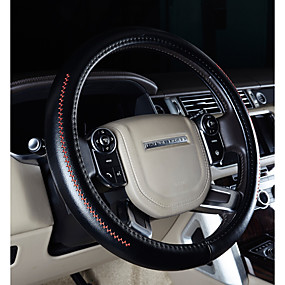 billige Rattet dækker-Ratovertræk til din bil ægte læder 38 cm Lilla / Kaffe / Sort / Rød Til Volkswagen CC / Gran Lavida / Golf 7 Alle år