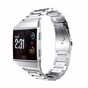 cheap Watch Bands for Fitbit-Watch Band for Fitbit ionic Fitbit Butterfly Buckle Stainless Steel Wrist Strap