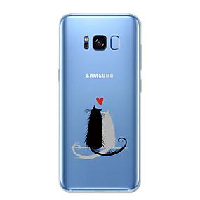 voordelige Galaxy S6 Edge Plus Hoesjes / covers-hoesje Voor Samsung Galaxy S8 Plus / S8 / S7 edge Patroon Achterkant Kat / dier Zacht TPU
