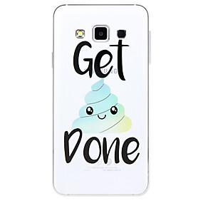 voordelige Galaxy A8 Hoesjes / covers-hoesje Voor Samsung Galaxy A3 (2017) / A5 (2017) / A7 (2017) Patroon Achterkant Woord / tekst / Cartoon Zacht TPU