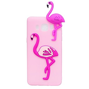 voordelige Galaxy J7(2017) Hoesjes / covers-hoesje Voor Samsung Galaxy J7 (2017) / J7 (2016) / J5 (2017) Patroon / DHZ Achterkant Flamingo / 3D Cartoon Zacht TPU