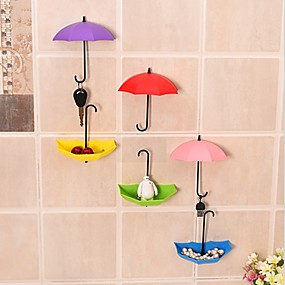 cheap Bath Accessories-Umbrella Wall Hook Key Hair Pin Holder Colorful Organizer Decor Decorate Key Hanger Rack Decorative Holder Wall Hook