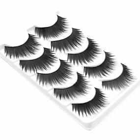 cheap Makeup & Nail Care-Eyelash Extensions Makeup Tools False Eyelashes 5 pcs Fiber Daily Full Strip Lashes Natural Long - Makeup Daily Makeup Cosmetic Grooming Supplies
