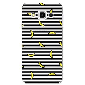 voordelige Galaxy A7(2016) Hoesjes / covers-hoesje Voor Samsung Galaxy A3 (2017) / A5 (2017) / A7 (2017) Patroon Achterkant Lijnen / golven / Fruit Zacht TPU