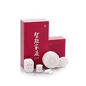 ieftine Securitate & Siguranță-xiaomi mijia 5-in-1 smart home security kit gateway multifunctional / soclu inteligent / comutator wireless / senzor de corp / senzor de fereastra si usa