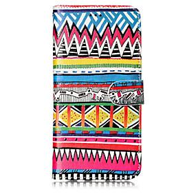 voordelige Galaxy S7 Edge Hoesjes / covers-hoesje Voor Samsung Galaxy S8 Plus / S8 / S7 edge Portemonnee / Kaarthouder / met standaard Volledig hoesje Lijnen / golven Hard PU-nahka