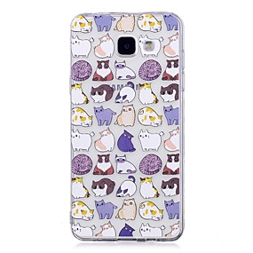 voordelige Galaxy A5(2016) Hoesjes / covers-hoesje Voor Samsung Galaxy A3 (2017) / A5 (2017) / A5(2016) IMD / Transparant / Patroon Achterkant Kat Zacht TPU