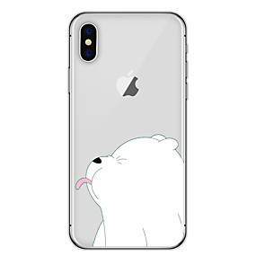 billiga iPhone-fodral-fodral Till Apple iPhone X   iPhone 8 Mönster Skal  Djur 30740e76e0504
