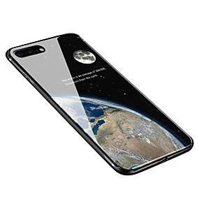 olcso iPhone tokok-Case Kompatibilitás Apple iPhone X / iPhone 8 Plus Minta Fekete tok Ég Puha Hőkezelt üveg mert iPhone X / iPhone 8 Plus / iPhone 8