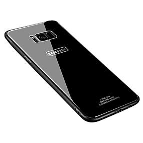 olcso Galaxy S tokok-Case Kompatibilitás Samsung Galaxy S8 Plus / S8 Ultra-vékeny Fekete tok Egyszínű Kemény Hőkezelt üveg mert S8 Plus / S8