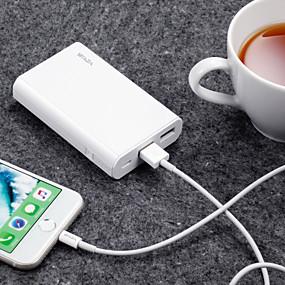 billige Batteribanker-waza 10000 mah for power bank eksternt batteri 5 v for 2,4 a til batterioplader restaurering beskyttelse / overladning beskyttelse / overladning beskyttelse ledet