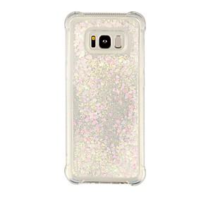 halpa Galaxy S -sarjan kotelot / kuoret-Etui Käyttötarkoitus Samsung Galaxy S8 Plus / S8 Iskunkestävä / Virtaava neste / Läpinäkyvä Takakuori Läpinäkyvä / Kimmeltävä Pehmeä TPU varten S8 Plus / S8 / S7 edge