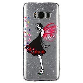 voordelige Galaxy S7 Hoesjes / covers-hoesje Voor Samsung Galaxy S8 / S7 / S6 Doorzichtig / Reliëfopdruk / Patroon Achterkant Sexy dame / Cartoon / Glitterglans Zacht TPU