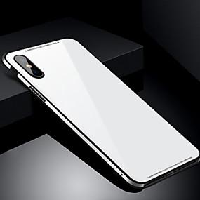 abordables Coques pour iPhone 6 Plus-Coque Pour Apple iPhone X / iPhone 8 Antichoc Coque Couleur Pleine Dur Verre Trempé pour iPhone X / iPhone 8 Plus / iPhone 8