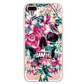 ราคาถูก เคสสำหรับ iPhone-Case สำหรับ Apple iPhone X / iPhone 8 Plus Pattern ปกหลัง กระโหลก / ดอกไม้ Soft TPU สำหรับ iPhone X / iPhone 8 Plus / iPhone 8