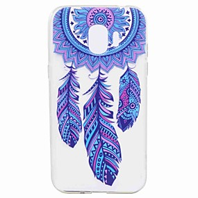voordelige Galaxy J7 Hoesjes / covers-hoesje Voor Samsung Galaxy J7 Prime / J7 (2017) / J7 (2016) Transparant / Patroon Achterkant Dromenvanger Zacht TPU