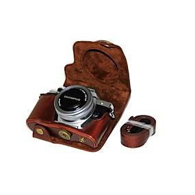baratos Gadgets para Notebook-Tampa de bolsa de couro para câmera de couro dengpin pu para olympus e-m10 mark iii em10 mark3 (lente 14-42mm ez (cores sortidas)